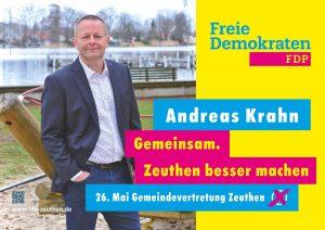 FDP Zeuthen - Andreas Krahn Wahlplakat