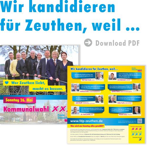 Wahlflyer FDP Zeuthen