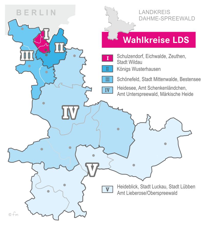 Karte LDS - Wahlkreise